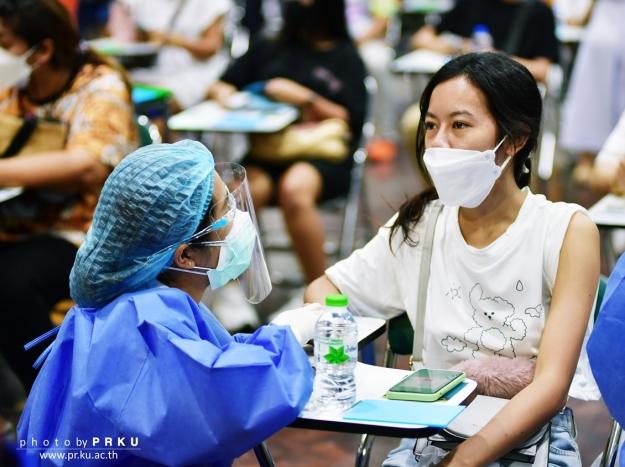 บรรยากาศการฉีดวัคซีน COVID-19 วันที่ 24 กรกฎาคม 2564