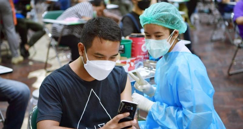 บรรยากาศการฉีดวัคซีน COVID-19 เข็มที่ 2 วันที่ 2 ตุลาคม 256
